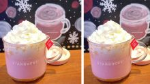 Starbucks now does cute baby pink lattes