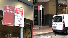 'Learn the rules': Driver savaged after parking signs spark confusion