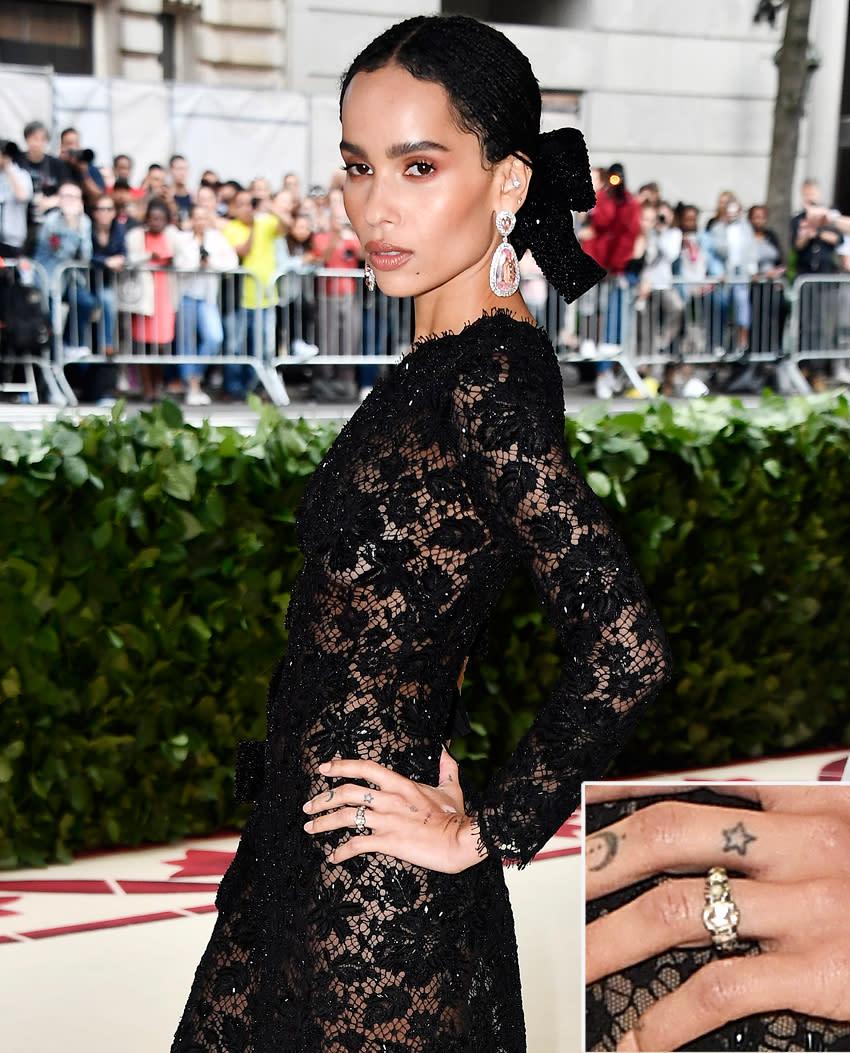 Zoe Kravitz Oscars Bra: Zoë Kravitz Has Been Wearing Her Engagement Ring For