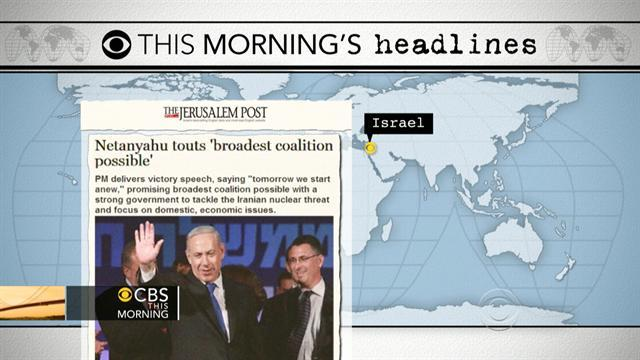 Headlines: Netanyahu will remain in power in Israel
