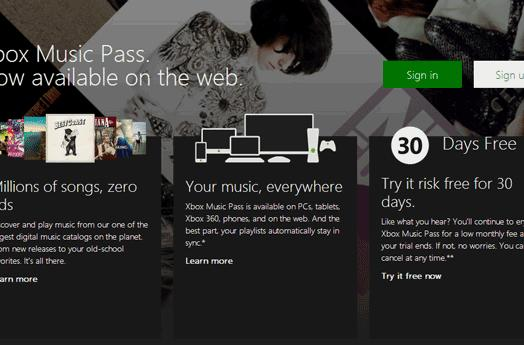 Xbox Music web version launches today