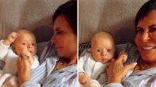 Aos 60 anos, Gretchen aparece com neto em momento de carinho no Instagram