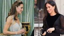 How Meghan Markle's First Solo Engagement Compares with Kate Middleton's