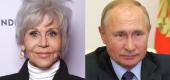 Jane Fonda and Vladimir Putin (Yahoo Entertainment)