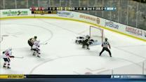 Brad Marchand scores on his backhand for SHG