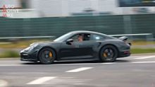 Mysterious ducktailed Porsche 911 spotted at the 'Ring