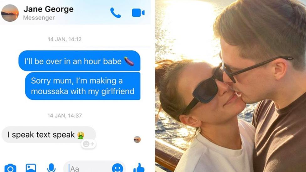 Reality TV star's awkward x-rated text to his mum