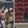 J.J. Watt played catch with a fan SITTING IN THE UPPER DECK OF THE SUPERDOME