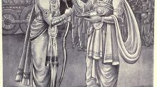 Which king in Mahabharata was tricked into fighting for the Kauravas?