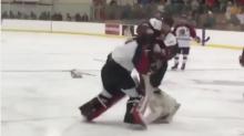 Watch: Junior goalies go toe-to-toe in spirited tilt