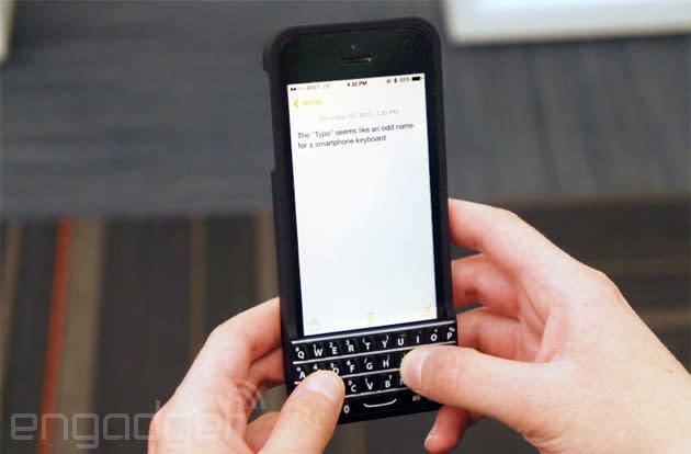 Typo case marries an iPhone 5s and a BlackBerry Q10, with Ryan Seacrest officiating (hands-on)