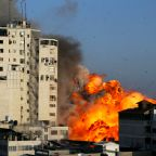 Gaza violence: Pictures show scale of destruction amid threat of Israeli invasion