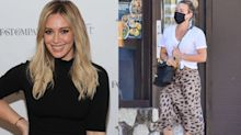 Hilary Duff expertly styled this $590 leopard print midi - here's how to get the look for less