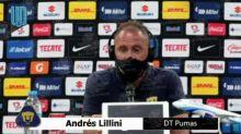 Andrés Lillini, técnico de los Pumas, envió un mensaje tras la indisciplina de Alan Mozo