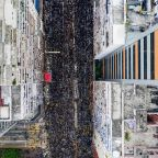 Hong Kong leader apologises as record rally chokes city