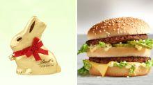 Oster-Leckereien gegen Fast Food: Diese Süßigkeiten enthalten mehr Fett, als man denkt