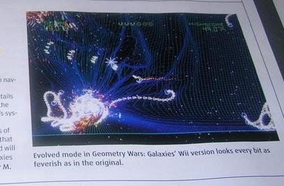 Geometry Wars Galaxies defects to Wii and DS