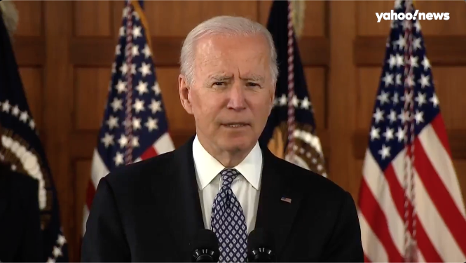 www.yahoo.com: After Atlanta spa shootings, Biden denounces hate crimes against Asian Americans