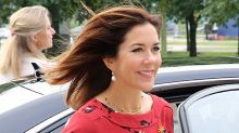 Princess Mary stuns in red for hospital visit