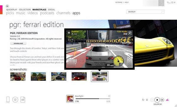 Zune HD Marketplace now loaded with free 3D games