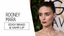 Recreate Rooney Mara'sGolden Globes Beauty Look For Under $30 [Video]