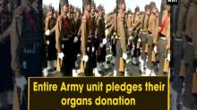 Entire Army unit pledges their organs donation