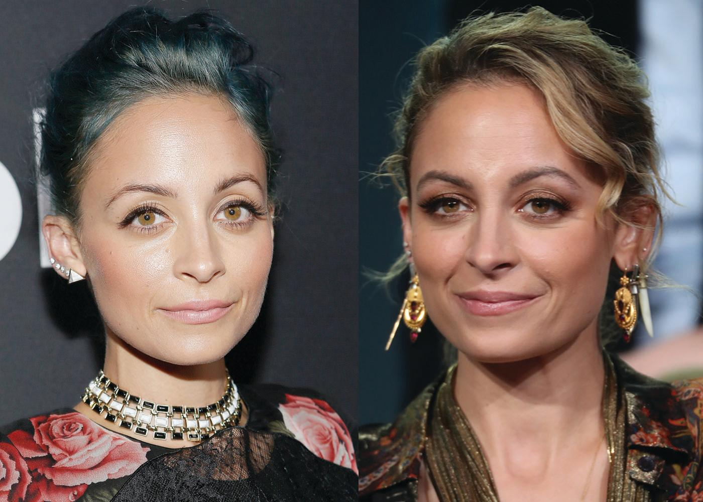 After experimenting with dark green hair dye, Nicole Richie is now back to a natural-looking dirty blond. (Photo: Getty Images)