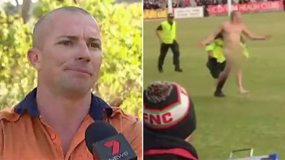 Local footy streaker opens up on his 'small' regret