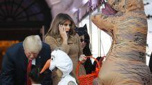 Little girl meets Melania Trump dressed in FLOTUS's controversial Hurricane Harvey look