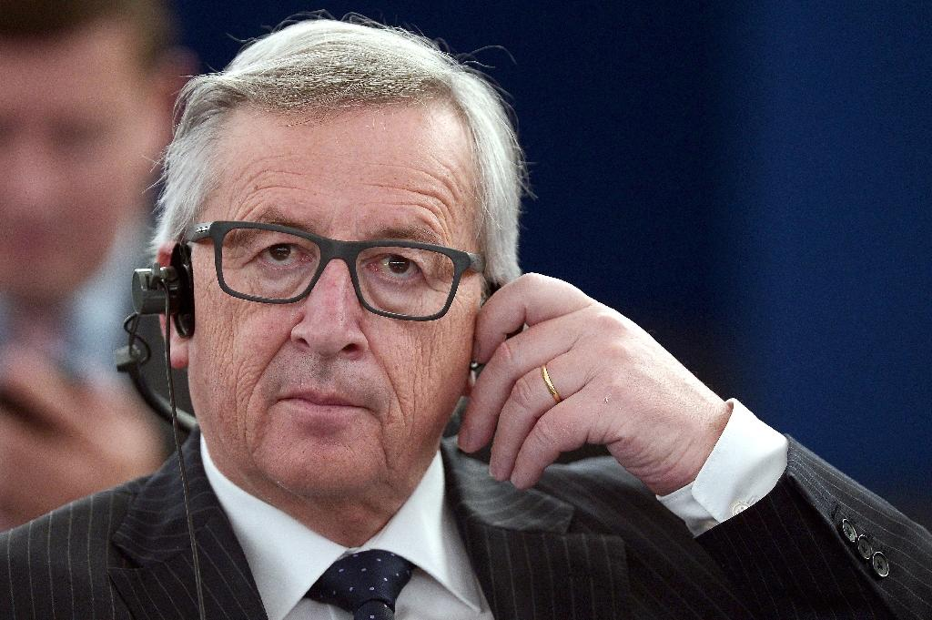 """European Commission chief Jean-Claude Juncker opened the door to minor changes to the EU's treaties, but his spokesman insisted that the bloc's four key principles including freedom of movement were """"non-negotiable"""" (AFP Photo/Frederick Florin)"""