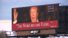 Controversial billboard featuring Donald Trump, 'Make the Gospel great again,' and Bible verse is taken down in Missouri