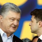 Ukrainian presidential candidates trade insults in final debate