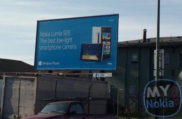 Nokia Lumia 928 billboard can't wait for official announcement to trumpet low-light camera performance