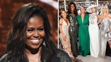 Michelle Obama makes surprise Grammys appearance to support friend Alicia Keys