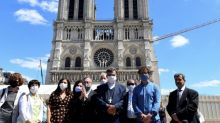 Paris reopens square at fire-scarred Notre-Dame cathedral