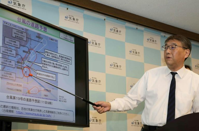 Japan's weather agency is warning Typhoon Hagibis could bring record rains and flooding (AFP Photo/Jiji Press)