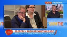 Geoffrey Rush defamation case day two