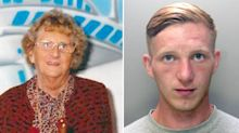 Serial burglar's foul-mouthed rant as he's jailed for 23 years for killing pensioner he'd robbed