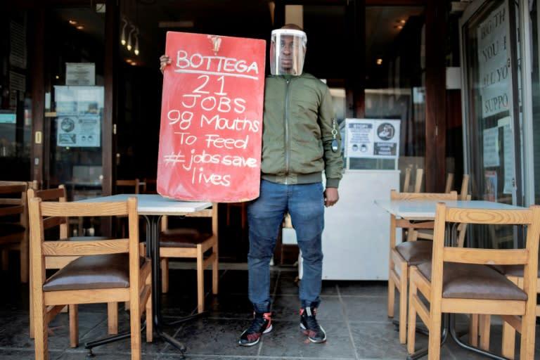 South African restaurants protest virus lockdown restrictions