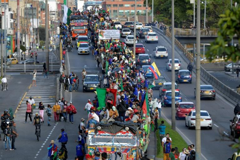 Protests began on October 10 in southwestern Colombia and gradually advanced to the capital