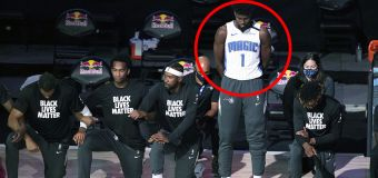 Story behind NBA player's shock anthem decision