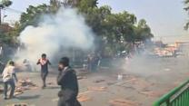 Thai protesters tear gassed by police