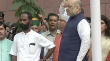 Independence Day 2018: Congress, Arvind Kejriwal taunt BJP over Amit Shah's fumble during flag hoisting at party headquarters