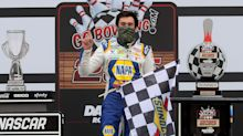 Chase Elliott will start from the Cup pole position Saturday at Dover
