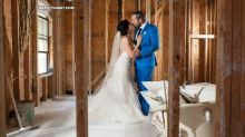 Texas couple takes wedding photos in Harvey debris, will donate $5K wedding reception funds to people affected
