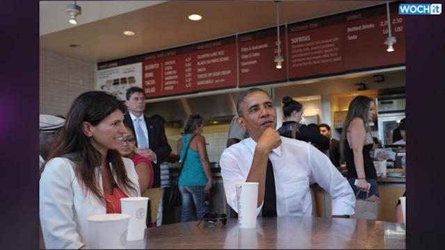 Barack Obama Reaches Over Chipotle's
