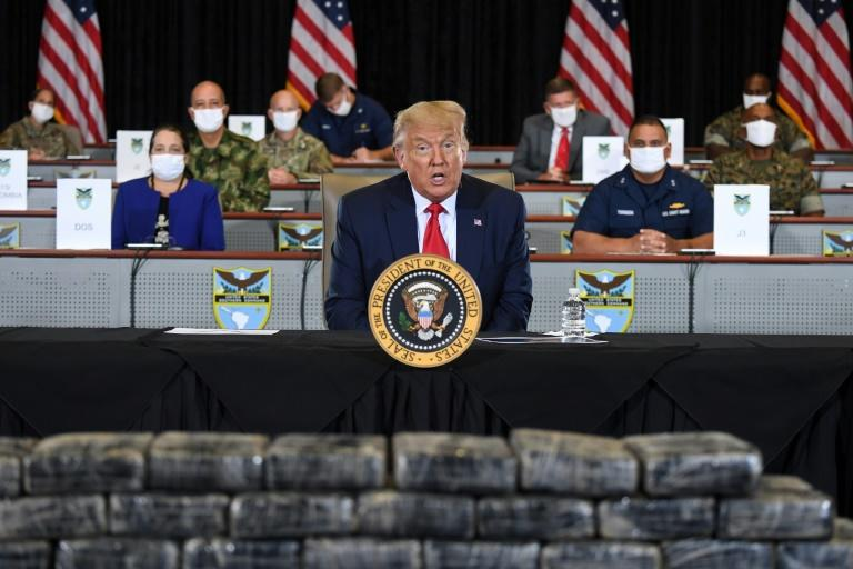 US President Donald Trump has pushed to hold large gatherings against health advice (AFP Photo/SAUL LOEB)