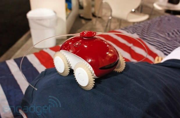 Crapgadget CES, round three: WheeMe massage robot whips its arms back and forth (video)