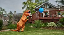 Jurassic Lark: Real estate agent dresses as 7-foot dinosaur to sell homes