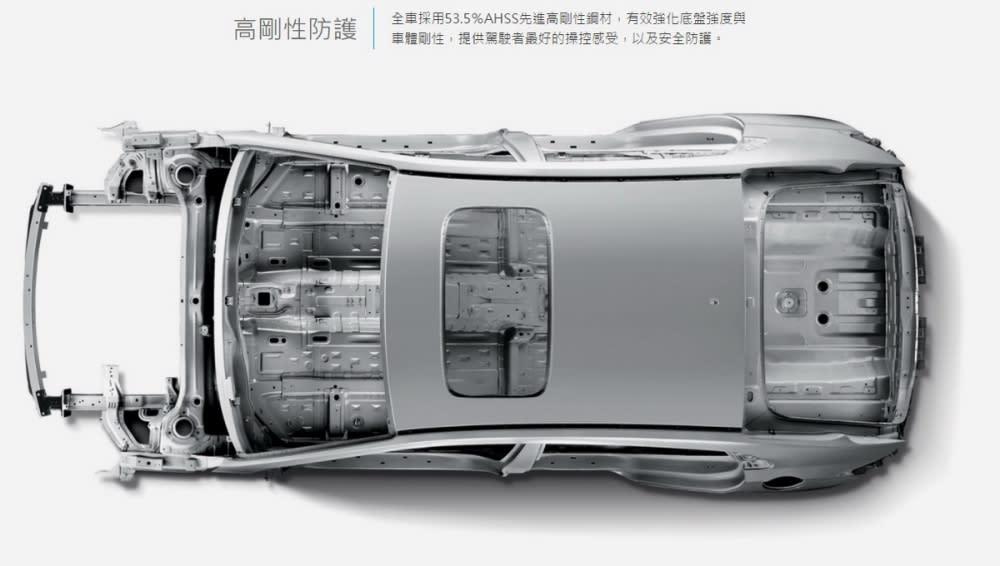 Ioniq大量運用高剛性鋼材,換來優異車體剛性與輕量化,懸吊更採用前麥花臣、後多連桿設計,以一輛中型房車來說Ioniq具備潛力十足的操控本質